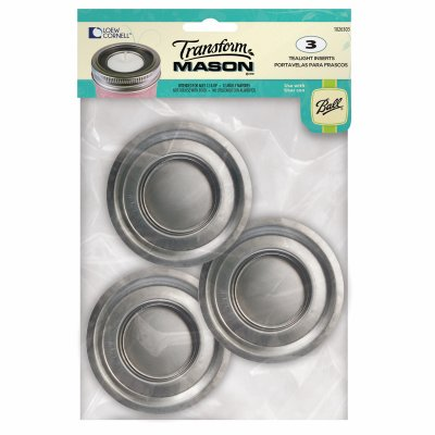 Jarden Home Brands 1026303 Transform Mason ?? Tea Light Lid Insert - 3 ct. - Quantity 24