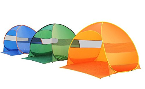 FiveJoy Pop Up Beach Umbrella Tent Cabana – Automatic Setup in Seconds – Great Sun Shelter, UV Protection, Lightweight, Compact for Travel – Portable Shade Canopy for Beach, Park, Picnic, Sports, Kids