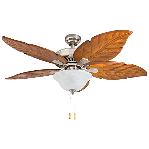 Hand Carved Fine Wood - Prominence Home 50826-01 South Walton Tropical Ceiling Fan (Bluetooth), 52