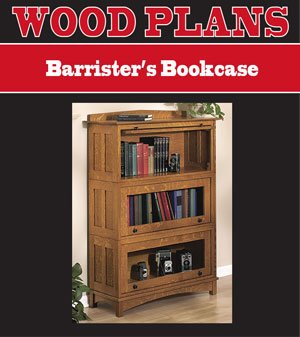 - BARRISTERS BOOKCASE WOODWORKING PAPER PLAN PW10074