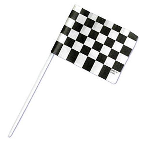 Oasis Supply BC F-5 Checkered Racing Flag Cupcake Topper Picks, - Picks Flag Racing