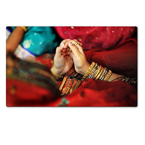 MSD Natural Rubber Large Table IMAGE ID: 14271476 Indian Muslim prayer in red sari