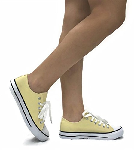 Lo Taylor Collection The Sneakers Shoes Lt Sports Womens Yellow Top Canvas wPOwnA