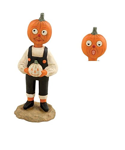 Bethany Lowe Halloween Two Faced Pumpkin Boy Figurine Allen Cunningham New -