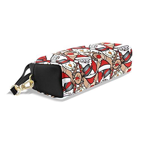 Portable Coosun Grande École Capacité Cosmétiques Crayon Housse De Case Noël Grand Maquillage Sac Pen Pu Multicolore Sacs Fond Cuir Fixe rqxTtO0rn