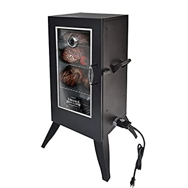 Smoke Hollow Electric Smoker with Window, 30 , Black