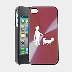 Man With His Dog iPhone 4 Case iPhone 4S Case - MetalTouch CD Pink Aluminium Shell Protective Case
