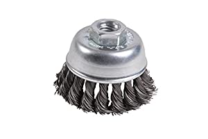 "Mercer 189011B Premium Knot Cup Brush 2-3/4"" x 5/8""-11 For Angle Grinders"