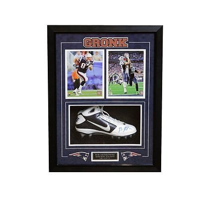 97fa4d1eeec Rob Gronkowski New England Patriots Signed Autographed Nike Cleat Framed at  Amazon s Sports Collectibles Store