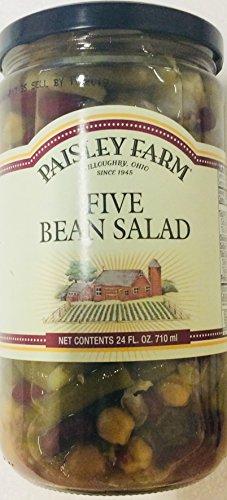 (Paisley Farm Five Salad Bean (Green, Kidney, Ceci, Pinto, Wax) 24 Fl Oz Jar- Gluten Free)