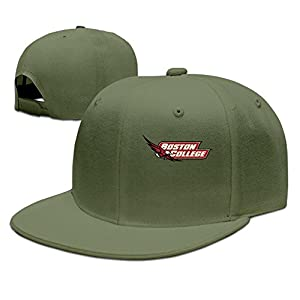 ZOENA Boston College Hockey Logo Cotton Hats Baseball Cap Hat For Outdoor Sports ForestGreen