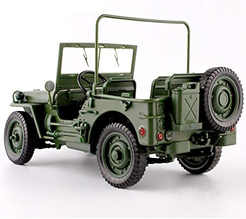 SeniorMar Pressofuso in Lega 1:18 per Jeep Military Tactics Truck Modello di Auto Cappuccio apribile Pannelli per rivelare Il Motore per Bambini Giocattoli Regalo