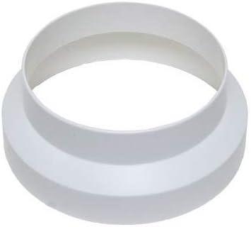 Acople Reductor/Reducción Vents de Plástico para Extractor/Tubo (150mm/125mm)