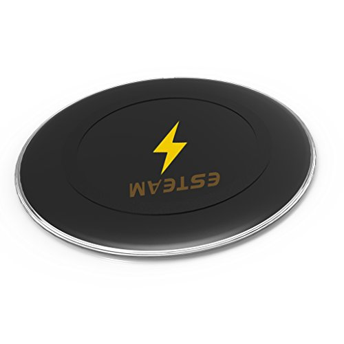 ESTEAM Wireless Charger Qi-Certified Wireless Charging Ultra-Safe Compatible with iPhone Xs MAX/XR/XS/X/8/8 Plus,Compatible Galaxy Note 9/S9/S9 Plus/Note 8/S8,5W All Qi-Enabled Phones(No AC Adapter)