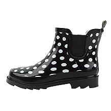 New Women's Short Ankle Rubber Rain Boots Garden Boots/ Bottes de pluie Available In 4 Styles