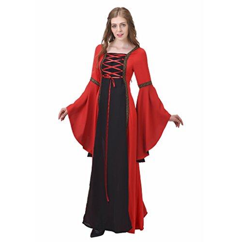1791's lady Women's Gothic Medieval Dresses Renaissance Gown NQ0025-5-L