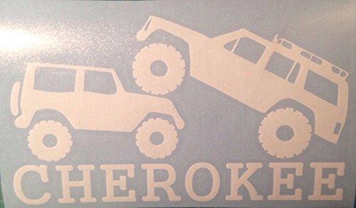 (CHEROKEE OVER WRANGLER - Vinyl Decal / Sticker for Jeep Driving Funny XJ SJ CJ YJ TJ JK LJ)