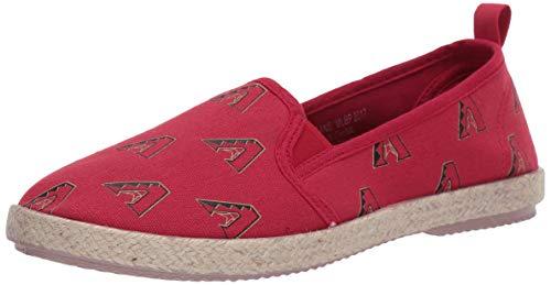 FOCO MLB Arizona Diamondbacks Women's Espadrille Canvas Shoes, Large, Team Color