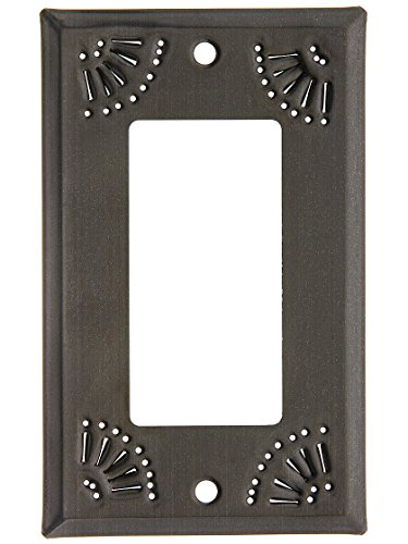 Pierced Country Tin Single GFI Cover Plate in Country -