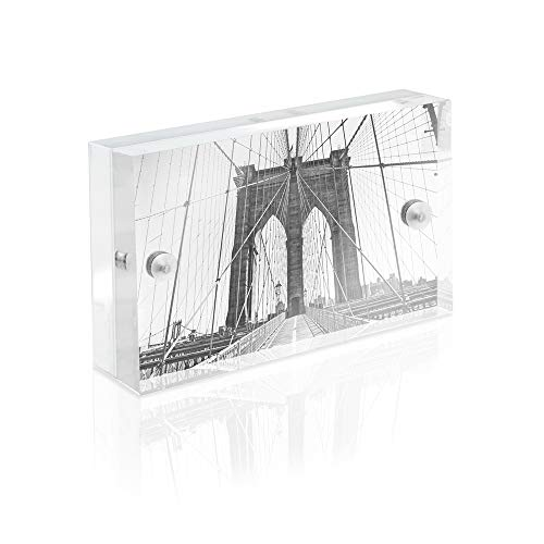 - Isaac Jacobs Super Thick Acrylic Magnetic Block Frame, 2x3 Inches