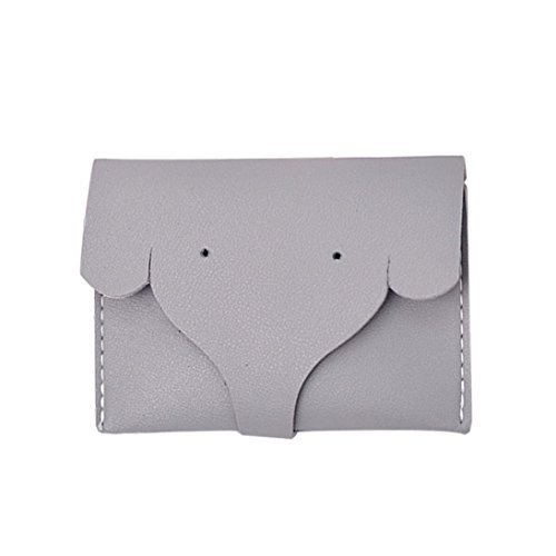 Elephant Purse - Womail Women Hasp Elephant Wallet Card Coin Holder Clutch Handbags (Gray)