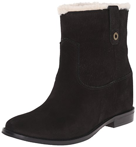 Cole Haan Women's Zillie WP Winter Boot, Black Leather/Shearling, 9.5 B US