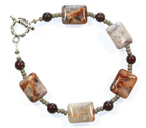 Mexican Crazy Lace - Style-ARThouse Designs from The Earth Crazy Lace Agate Bracelet, 8.0 Inches