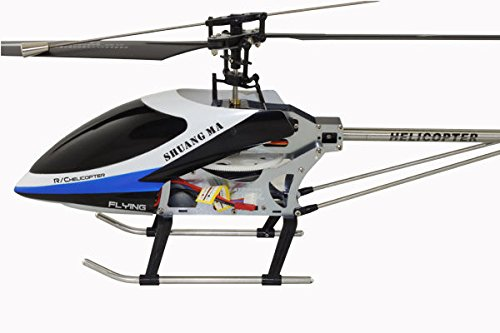 H-9117-B Big Metal Gyro Remote Control 4 Channel 2.4GHz Helicopter, Blue ,#G14E6GE4R-GE 4-TEW6W201001 Helicopter 2.4 Ghz Metal