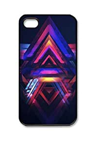 E-luckiycase PC Hard Shell Abstract - Pyramid with Black Skin Edges for iPhone 6 4.7 Case