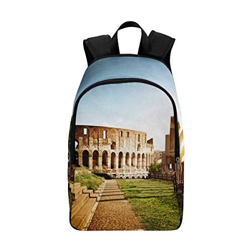 InterestPrint Colosseum in Rome, Italy Casual Backpack Travel Daypack by InterestPrint