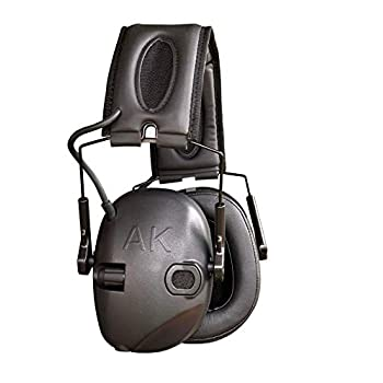 Image of Earmuffs AKT1 Sport Sound Amplification Earmuff, Electronic Hearing Protection for Shooting Sports & Impact Noise, Premium Ear Pro with Memory Foam Cushions & Enhanced Sound Clarity, AK earpro, NRR 25