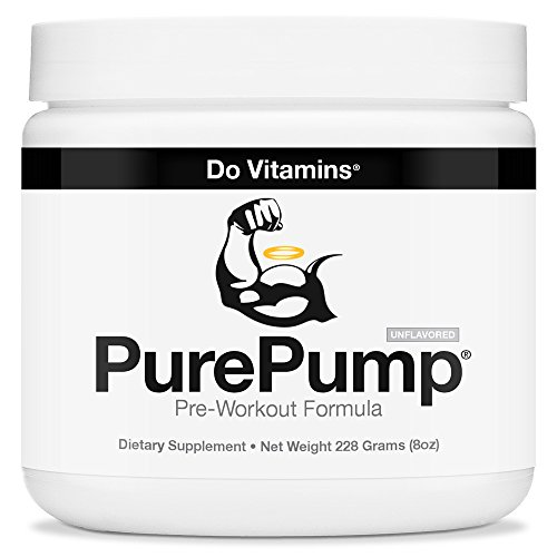 PurePump Natural Pre Workout Supplement for Men & Women, Cleanest Pre-Workout Powder Fitness Supplements Certified Paleo, Vegan, Non-GMO - No Artificial Sweeteners Colors or Flavors, 228 Grams (8 oz)