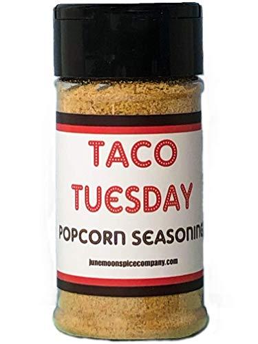 Premium | POPCORN SEASONING Variety 4 Pack | Burlap Hostess Bag Included | Cinnamon Sugar Popcorn Seasoning | Cilantro Lemon Popcorn Seasoning | Taco Tuesday | Rosemary Parmesan | 3.5 fl. oz. by June Moon Spice Company (Image #1)