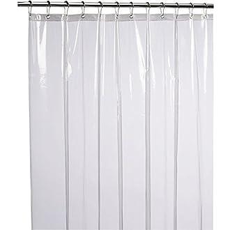 1 Shower Curtain Liner Mildew Resistant Anti Bacterial PEVA 8G