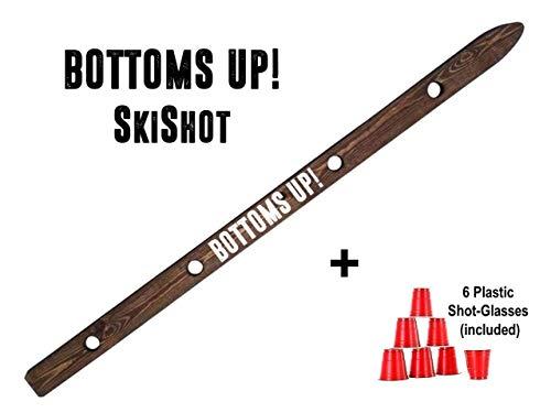 - Bottoms Up Shot Board Wooden Ski