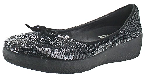fitflop Sequins Superballerina Ballet Flat Black Womens xqvg7OF