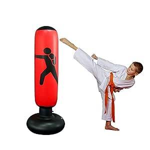 Womdee Saco de Boxeo para Mujer, Inflable, Saco de Boxeo y Saco de Boxeo con Base Gruesa, lo Suficientemente Fuerte como para Niños y Adultos, ...