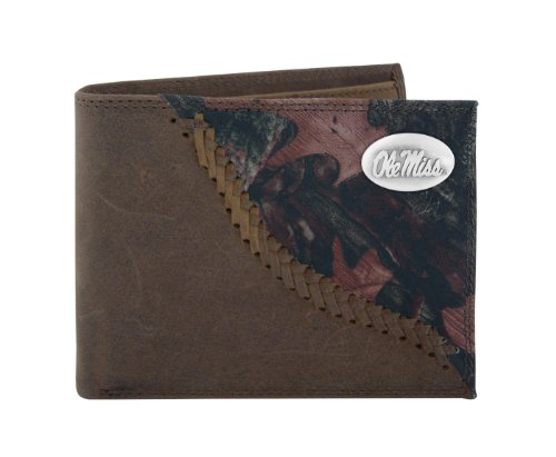 NCAA Mississippi Old Miss Rebels Zep-Pro Bifold Concho Wallet, Camouflage