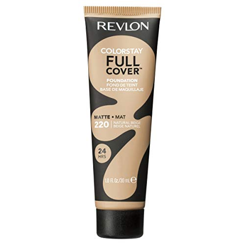 Revlon ColorStay Full Cover Foundation, Natural Beige, 1.0 Fluid Ounce