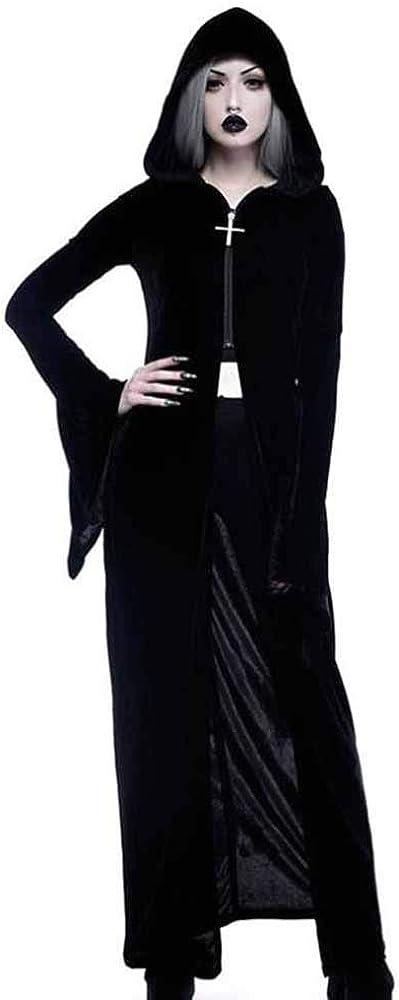 Huateng Vestido con Estampado gótico Steampunk para Mujer Conjunto ...