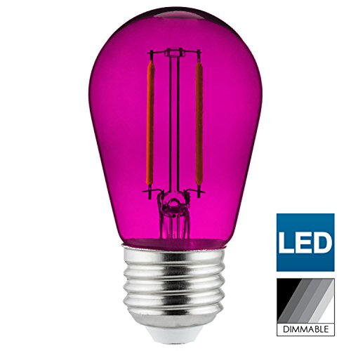 Sunlite LED Transparent Purple Colored Medium Base (E26) Bulb - Parties, Decorative, and Holiday 15,000 Hours Average Life by Sunlite