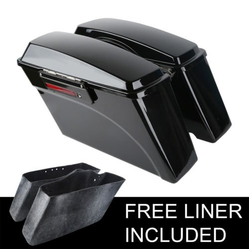 TCMT Hard Saddlebags Saddle Bags Fits For Harley Road King Glide FLHR FLTR 1994-2013
