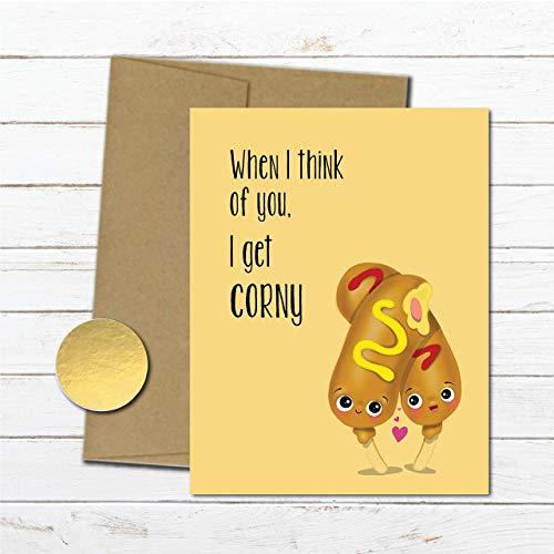 Corny Anniversary Card For Boyfriend Dirty Love Husband Funny Gifts