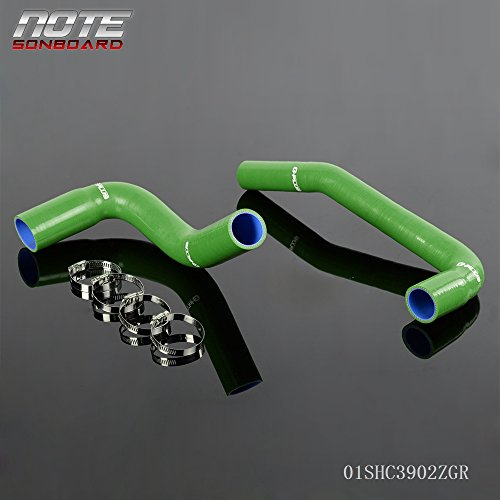 For JJeep Wrangle YJ/TJ 2.4/4.2L 1987-2006 Silicone Radiator Hose Kit Green