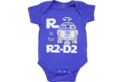 Star Wars R Is For R2D2 Snapsuit Infant Onesie Baby Romper (Infant 18-24 Months) ()