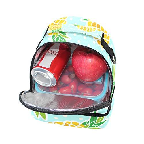 à bandoulière Motif avec réglable Cooler Boîte Alinlo Ananas Pincnic isotherme Sac lunch Tote pour l'école à wFawtqzv