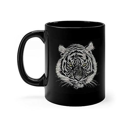 (Tiger Face Cup for Coffee or Tea Mug 11 Oz Ceramic)