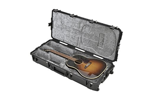 SKB Injection Molded Acoustic Guitar Case - TSA Latches, with wheels (3i-4217-18) (Molded Acoustic Guitar Case)