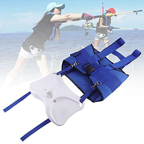 NICE CHOOSE Fishing Belt, Boat Fishing Fighting Belt Rod Holder Adjustable Waist Belt Offshore Tackle Fishing Vest Shoulder Back Harness Package - Blue ()