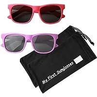 Mis primeras gafas de sol - estilo Wayfarer. ¡Gafas para sol 100 % a prueba de UV para bebés, infantes y niños! ¡Muchas opciones de color!